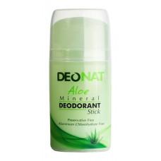 Минеральный дезодорант   С СОКОМ АЛОЭ   зеленый овальный кристалл   100g DeoNat