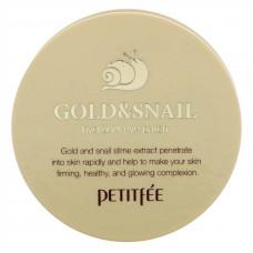Гидрогелевые патчи   ЗОЛОТО и УЛИТКА   Gold Snail Hydrogel Eye Patch  Petitfee